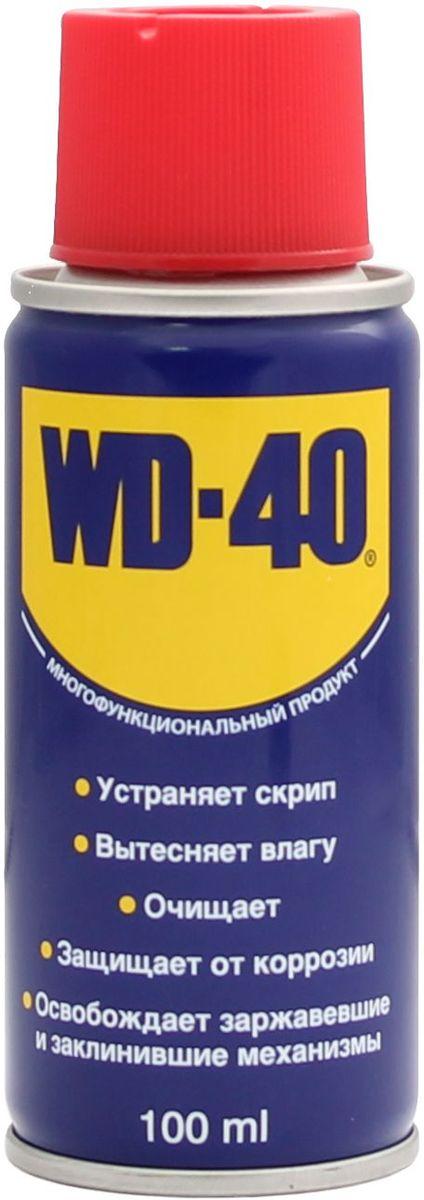 Смазка универсальная WD-40, 100 мл00656Средство универсальное WD-40 для тысячи применений на работе и в быту! WD-40 помогает деталям и механизмам работать исправно и эффективно. Устраняет скрип, вытесняет влагу с металлических поверхностей, очищает от смолы, клея, жира, оставляет защитную пленку против коррозии. Проникает в ржавчину и освобождает болты и гайки, смазывает движущие части механизмов.
