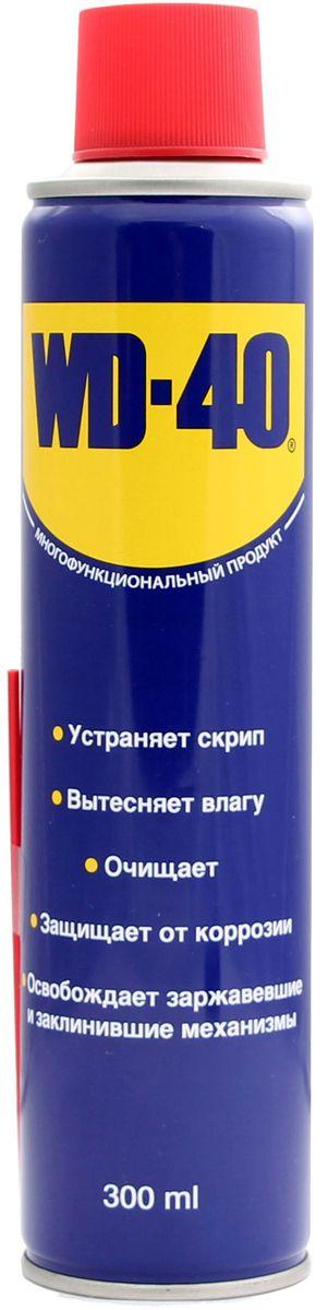 Смазка универсальная WD-40, 300 мл34605Средство универсальное WD-40 для тысячи применений на работе и в быту! WD-40 помогает деталям и механизмам работать исправно и эффективно. Устраняет скрип, вытесняет влагу с металлических поверхностей, очищает от смолы, клея, жира, оставляет защитную пленку против коррозии. Проникает в ржавчину и освобождает болты и гайки, смазывает движущие части механизмов.