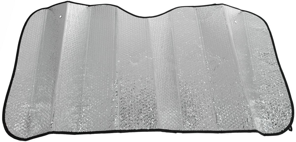Шторка солнцезащитная Главдор, на лобовое стекло, 140 х 70 смGL-704Солнцезащитная шторка фиксируется с помощью двух присосок на лобовое стекло (присоски в комплекте). Изготовлена из металлизированный фольги и плотного основания. Предназначена для отражения солнечных лучей, нагреванию и выгоранию поверхности деталей салона.