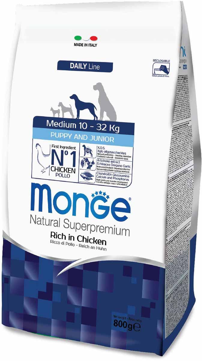 Корм сухой Monge Dog Medium, для щенков средних пород, 800 г70011655Monge Dog Medium корм для щенков средних пород, 800 г. Полнорационный корм для собак на основе мяса цыпленка и риса. Рекомендуется для щенков и молодых собак средних размеров возрастом до 12 месяцев, а также для беременных и кормящих самок. Анализ компонентов: сырой белок 29,00%, сырые масла и жиры 18,00%, сырая клетчатка 2,00%, сырая зола 7,50%, кальций 1,50%, фосфор 1,00%, омега-6 жирные кислоты 5,20%, омега-3 жирные кислоты 0,80%. Пищевые добавки/кг: витамин А 26000 МЕ, витамин D3 1820 МЕ, витамин Е 200 мг, витамин В1 20 мг, витамин В2 25 мг, витамин В6 12 мг, витамин В12 240 мг, биотин 32 мг, ниацин 50 мг, витамин С 175 мг, пантотеновая кислота 30 мг, фолиевая кислота 2,8 мг, холина хлорид 3200 мг, инозитол 6,00 мг, Е5 сульфат марганца моногидрат 32 мг, Е6 оксид цинка 150 мг, Е4 сульфат меди пентагидрат 13 мг, Е1 сульфат железа моногидрат 110 мг, Е8 селенит натрия 0,20 мг, Е2 безводный йодат кальция 1,80 мг, L-карнитин 140 мг, DL-метионин 7,20 г. Технологические...
