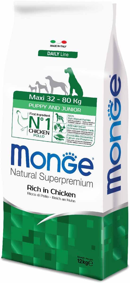 Корм сухой Monge Dog Maxi, для щенков крупных пород, 12 кг70011709Monge Dog Maxi корм для щенков крупных пород, 12 кг. Полнорационный корм для собак на основе мяса цыпленка и риса. Рекомендуется для щенков и молодых собак крупных пород возрастом от 2 до 12 месяцев, а также для беременных и кормящих животных. Анализ компонентов: сырой белок 28,00%, сырые масла и жиры 16,00%, сырая клетчатка 2,00%, сырая зола 7,00%, кальций 1,50%, фосфор 1,10%, омега-6 жирные кислоты 6,50%, омега-3 жирные кислоты 0,90%. Пищевые добавки/кг: витамин А 26000 МЕ, витамин D3 1820 МЕ, витамин Е 200 мг, витамин В1 20 мг, витамин В2 25 мг, витамин В6 12 мг, витамин В12 240 мг, биотин 32 мг, ниацин 50 мг, витамин С 175 мг, пантотеновая кислота 30 мг, фолиевая кислота 2,80 мг, холина хлорид 3200 мг, инозитол 6,00 мг, Е5 сульфат марганца моногидрат 32 мг, Е6 оксид цинка 150 мг, Е4 сульфат меди пентагидрат 13 мг, Е1 сульфат железа моногидрат 110 мг, Е8 селенит натрия 0,20 мг, Е2 йодат кальция 1,80 мг, L-карнитин 140 мг, DL-метионин 7,20 г. Технологические...