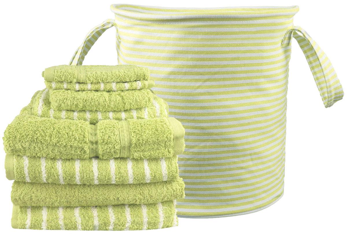 Набор полотенец Miolla, с сумкой, цвет: светло-зеленый, 9 предметовLFT-CS-SET-01Набор полотенец гармонично соединяет в себе наилучшие свойства современного махрового текстиля, и нежную эстетику, выраженную в оригинальных узорах. Безукоризненный по качеству, экологически чистый хлопок безупречно впитывает влагу. Он долговечен, не вызывает раздражения. Повседневное соприкосновение с нежными полотенцами, обладающими идеальными качествами, поднимет вам настроение, а созерцание невообразимо стильного узора наполнит вашу жизнь оптимизмом. Набор полотенец в сумке 68 х 130 - 4 шт, 40 х 60 - 2 шт, 33 х 33 - 2 шт.