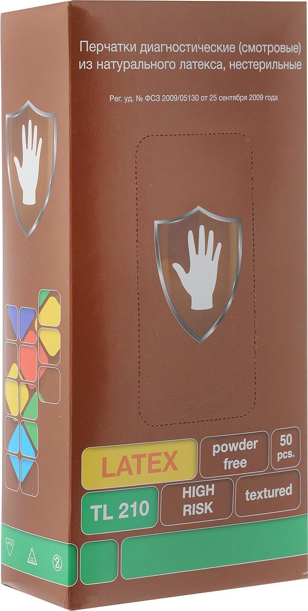 Перчатки латексные ХАЙ РИСК, особопрочные, с удлиненной манжетой, 50 шт. Размер LСИЗ25518Перчатки ХАЙ РИСК изготовлены из натурального латекса. Подойдут для смотровых (диагностических) работ в медицине. Перчатки имеют удлиненные манжеты.