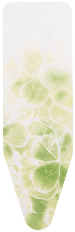 Чехол для гладильной доски Brabantia с войлоком, белый, желтый, рисунок: зеленый листок, 135 х 45 см264801Чехол для гладильной доски Brabantia выполнен из натурального хлопка с подкладкой из поролона (4 мм) и войлока (4 мм). Чехол разработан специально для гладильных досок Brabantia и подходит для большинства утюгов и паровых систем. Благодаря системе фиксации (эластичный шнурок с ключом для натяжения и резинка с крючками по центру) чехол легко крепится к гладильной доске, а поверхность всегда остается гладкой и натянутой. Чехол для гладильной доски Brabantia подарит вашей доске новую жизнь и создаст идеальную поверхность для глажения и отпаривания белья.