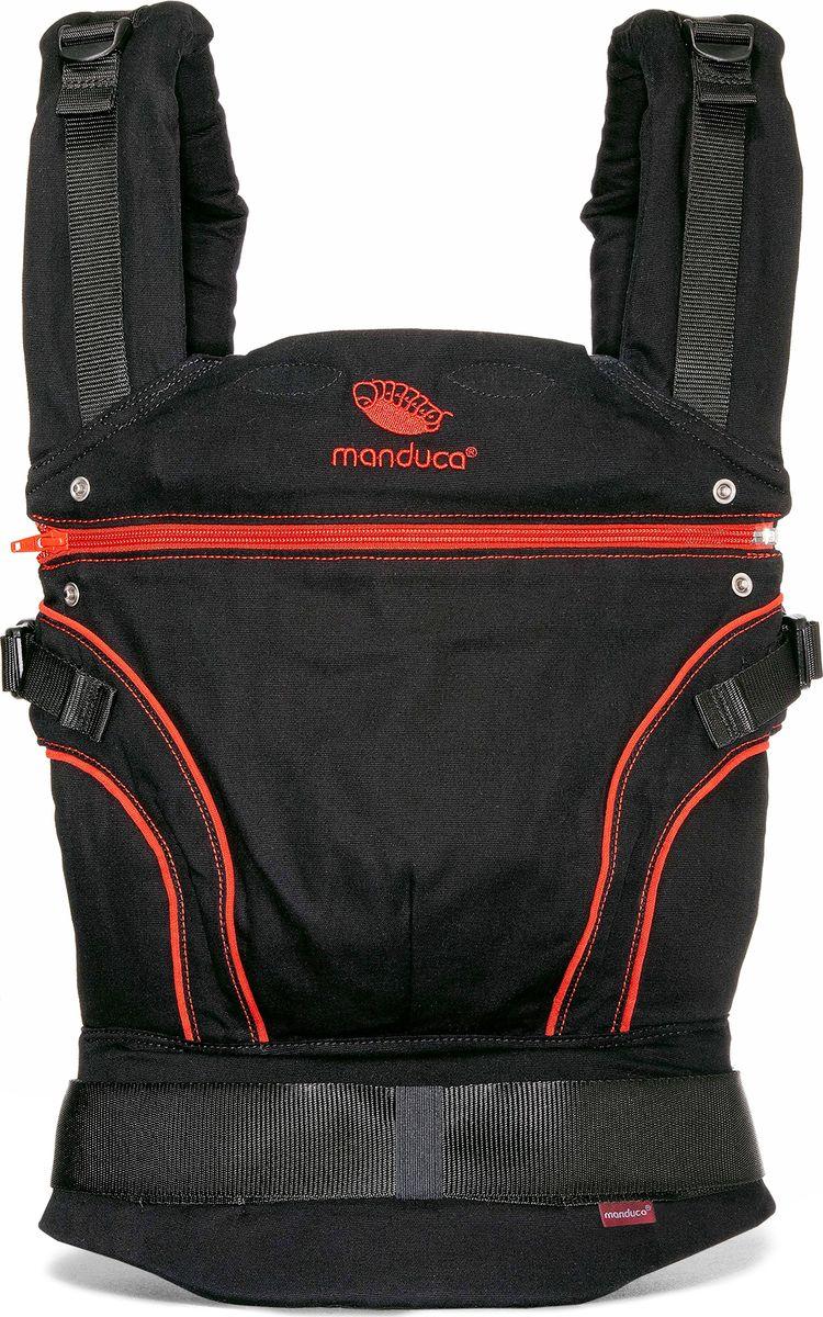 Manduca Слинг-рюкзак BlackLine RadicalRed с накладками цвет красный 2222011003