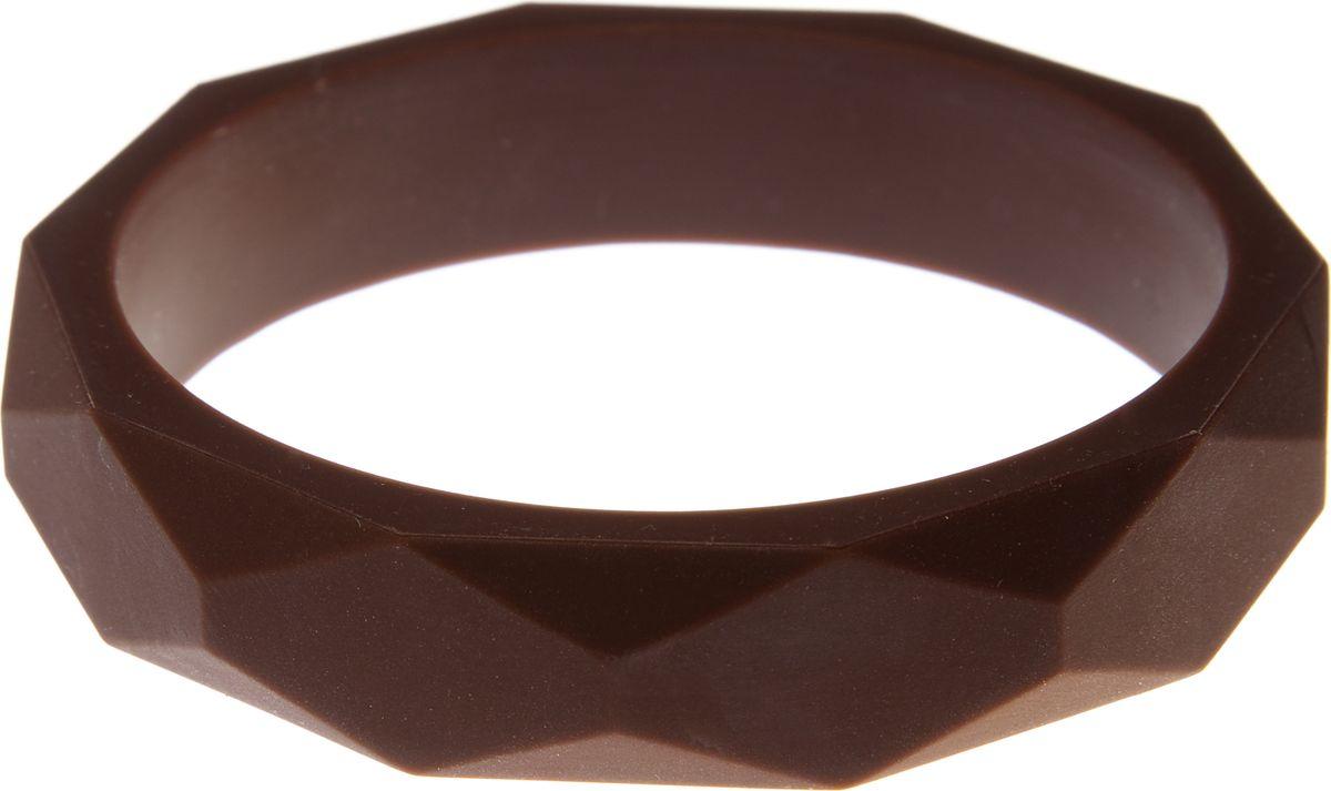 МАМидея Молочный браслет из пищевого силикона цвет коричневый