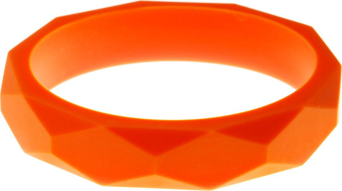 МАМидея Молочный браслет из пищевого силикона цвет оранжевый