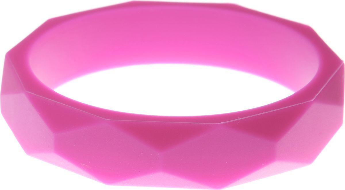 МАМидея Молочный браслет из пищевого силикона цвет розовый