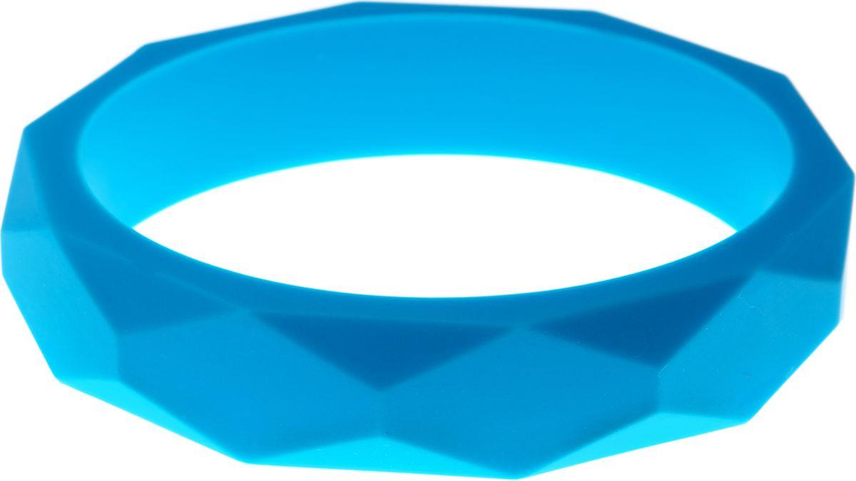 МАМидея Молочный браслет из пищевого силикона цвет голубой