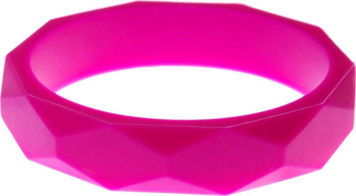 МАМидея Молочный браслет из пищевого силикона цвет фуксия