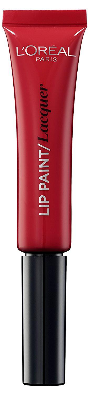 LOreal Paris Краска для губ Infaillible Lip Paint, жидкая помада, глянцевая, Оттенок 105, Красная фантазия, 8 млA8986700Яркие пигменты помад дарят насыщенный цвет, а плотная текстура легко ложится на губы и не стирается. Профессиональный аппликатор позволяет легко и точно нанести продукт на губы.