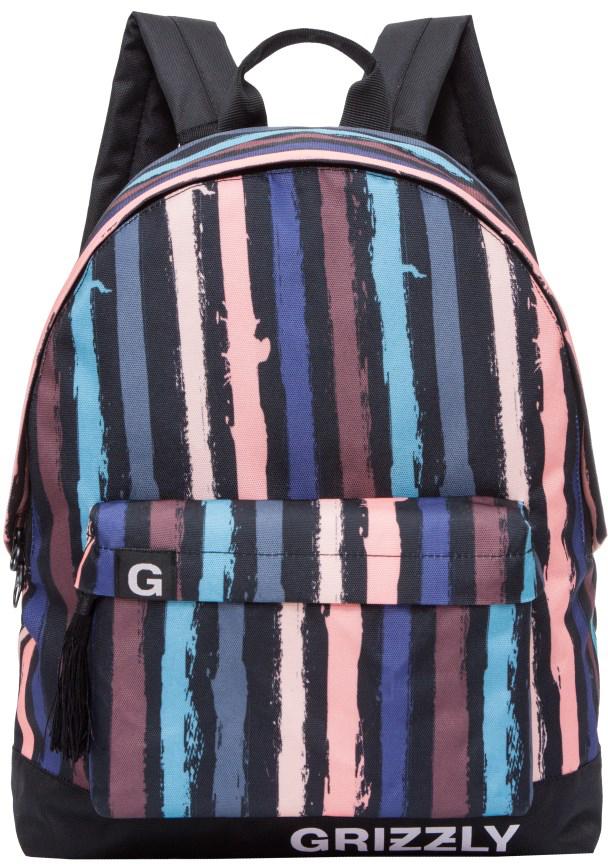 Рюкзак городской женский Grizzly, цвет: черно-розовый. RD-750-6/4RD-750-6/4Рюкзак молодежный, одно отделение, объемный карман на молнии на передней стенке, внутренний подвесной карман на молнии, укрепленная спинка, дополнительная ручка-петля, укрепленные лямки