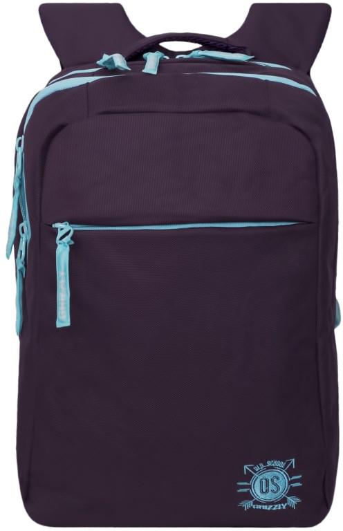 Рюкзак городской женский Grizzly, цвет: фиолетовый. RD-754-3/4RD-754-3/4Рюкзак молодежный, два отделения, карман на молнии на передней стенке, внутренний карман на молнии, внутренний карман-пенал для карандашей, внутренний укрепленный карман для ноутбука, укрепленная спинка, карман быстрого доступа в верхней части рюкзака, мягкая укрепленная ручка, нагрудная стяжка-фиксатор, укрепленные лямки