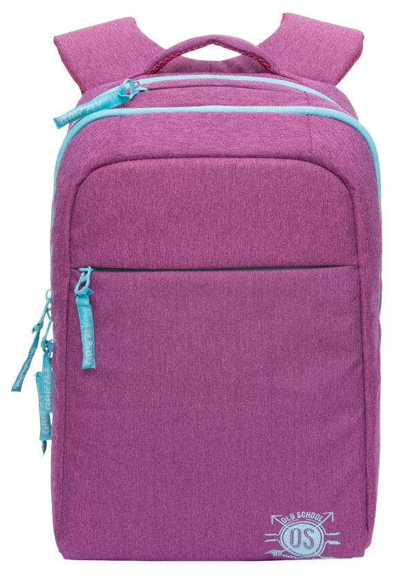 Рюкзак городской женский Grizzly, цвет: фуксия. RD-754-3/3RD-754-3/3Рюкзак молодежный, два отделения, карман на молнии на передней стенке, внутренний карман на молнии, внутренний карман-пенал для карандашей, внутренний укрепленный карман для ноутбука, укрепленная спинка, карман быстрого доступа в верхней части рюкзака, мягкая укрепленная ручка, нагрудная стяжка-фиксатор, укрепленные лямки