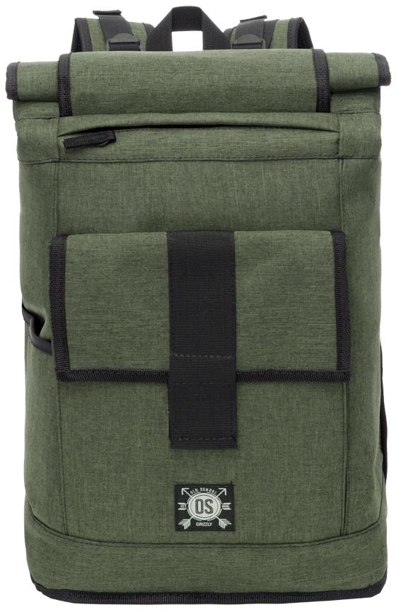 Рюкзак городской мужской Grizzly, цвет: зеленый. RU-702-2/2RU-702-2/2Рюкзак молодежный, вставка-трансформер для увеличения объема рюкзака, одно отделение, клапан на липучках, карман на передней стенке, боковой карман, внутренний карман на молнии, внутренний укрепленный карман для ноутбука, укрепленная спинка, карман быстрого доступа в верхней части рюкзака, карман быстрого сбоку, дополнительная ручка-петля, укрепленные лямки с возможностью регулировки размера под рост