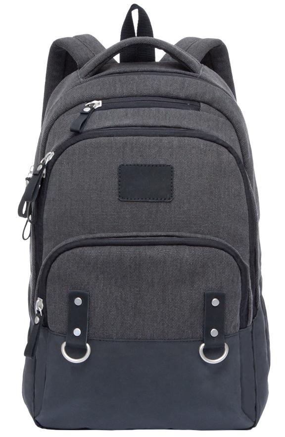 Рюкзак городской мужской Grizzly, цвет: черный. RU-703-1/1RU-703-1/1Рюкзак молодежный, два отделения, объемный карман на молнии на передней стенке, внутренний составной пенал-органайзер, внутренний укрепленный карман для ноутбука, укрепленная спинка, карман быстрого доступа в верхней части рюкзака, дополнительная ручка-петля, мягкая укрепленная ручка, укрепленные лямки