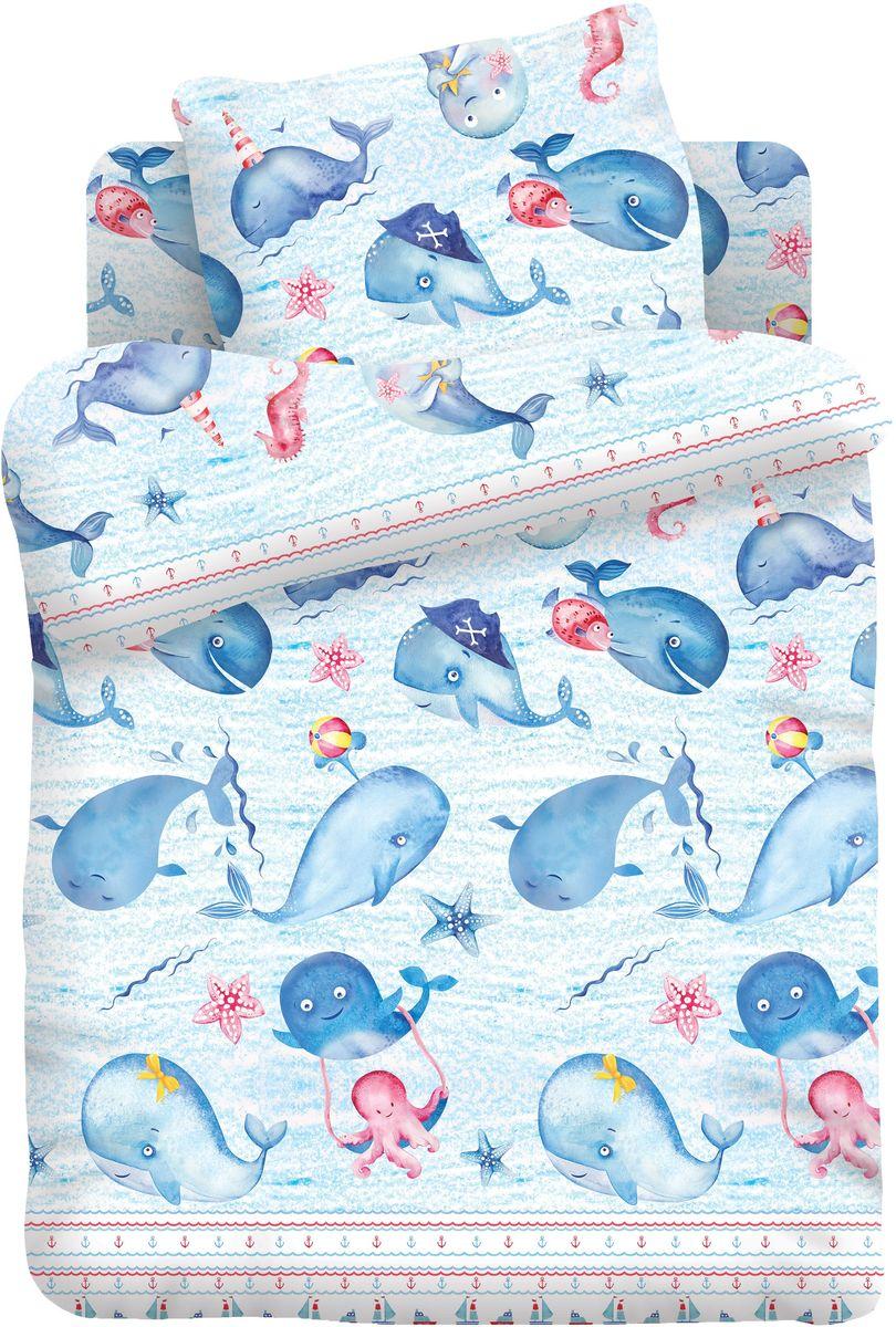 Кошки-мышки Комплект детского постельного белья Китята цвет голубой 3 предмета