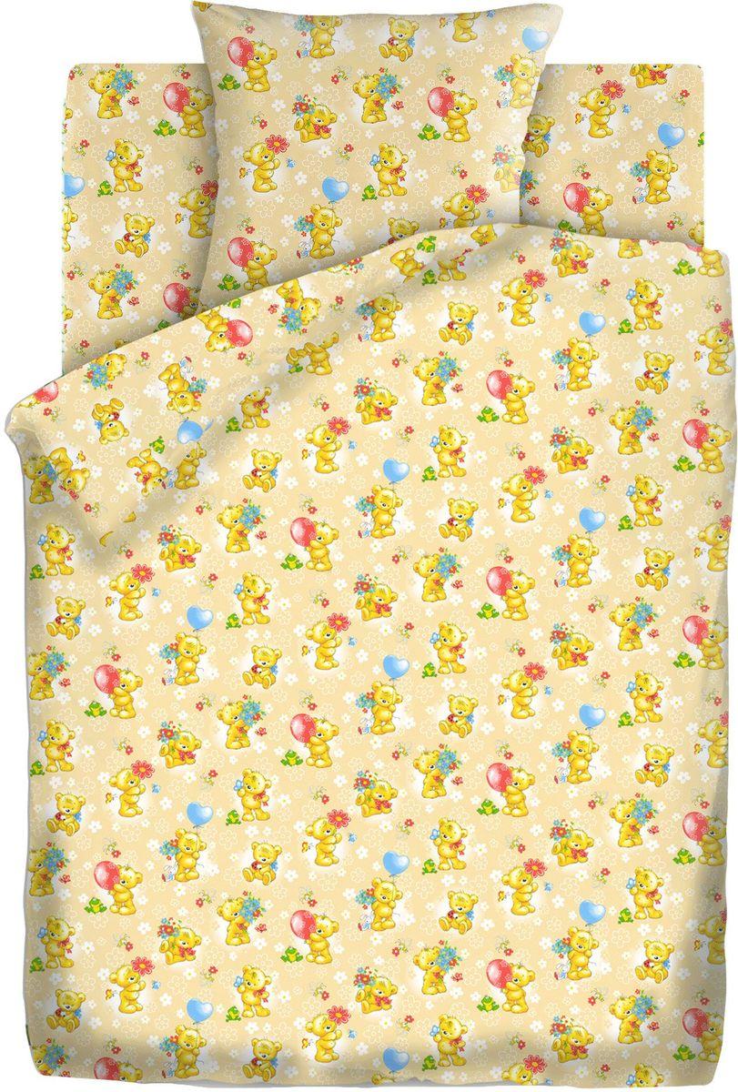 Кошки-мышки Комплект детского постельного белья Мишки-игрушки цвет желтый 3 предмета