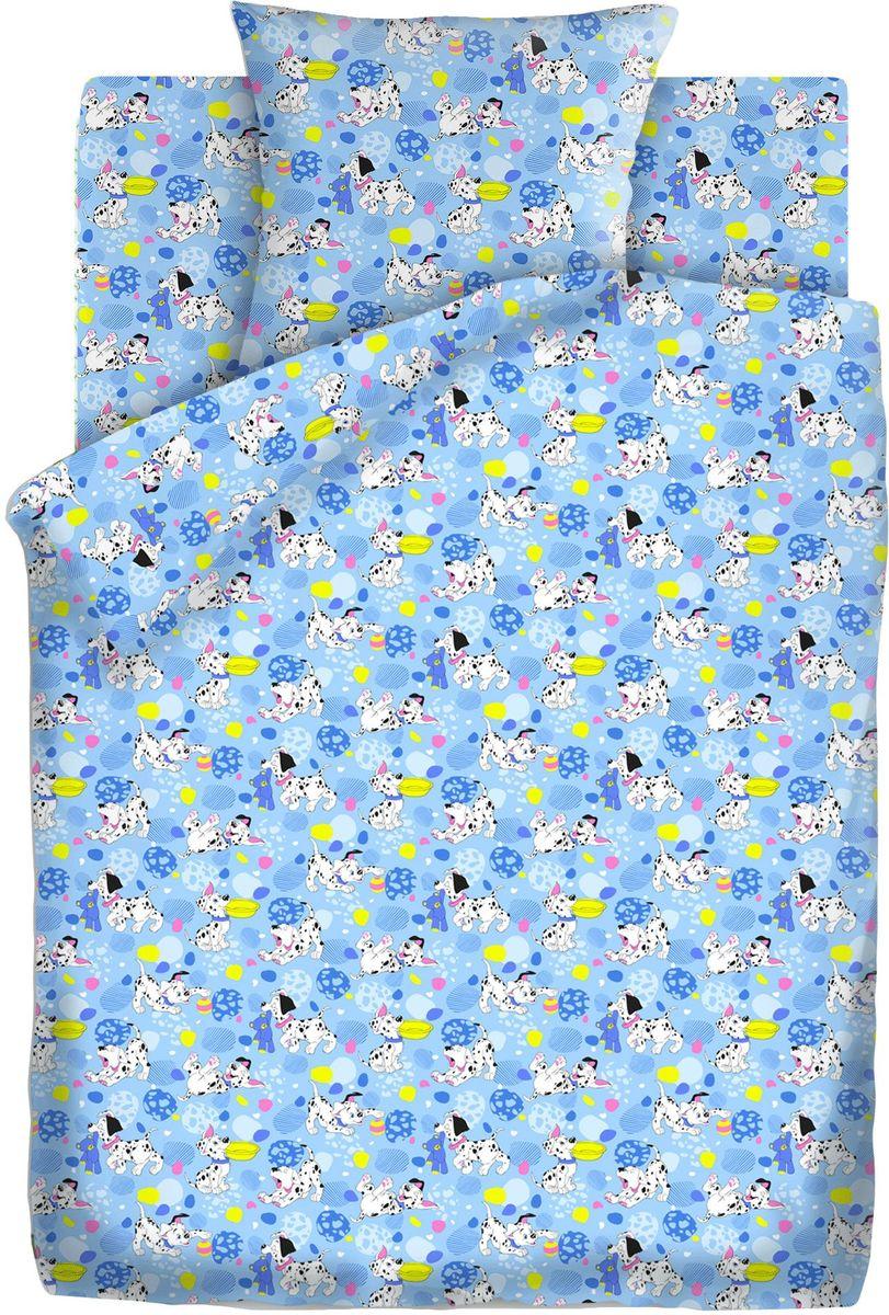 Кошки-мышки Комплект детского постельного белья Далматинцы цвет голубой 3 предмета