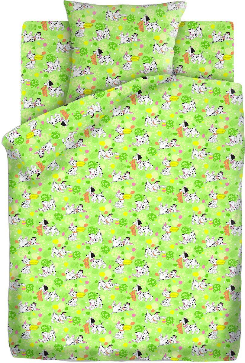 Кошки-мышки Комплект детского постельного белья Далматинцы цвет зеленый 3 предмета