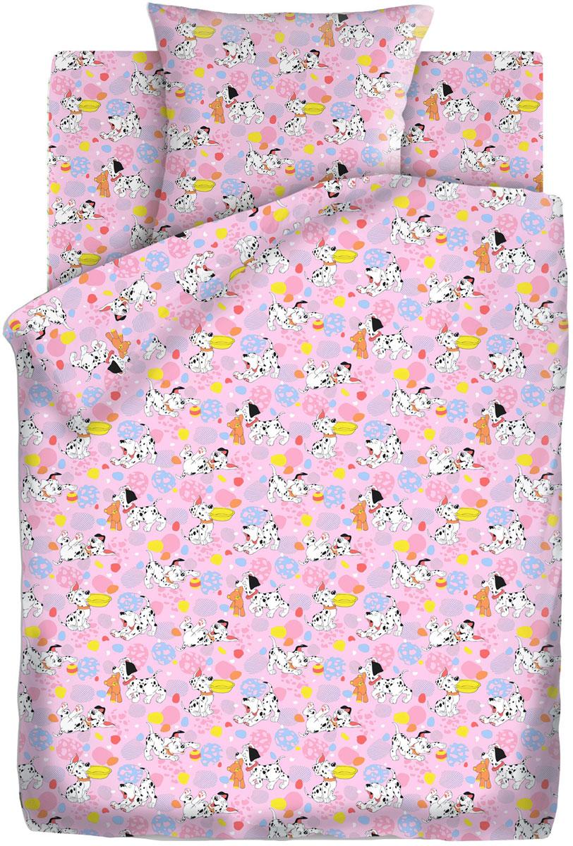 Кошки-мышки Комплект детского постельного белья Далматинцы цвет розовый 3 предмета
