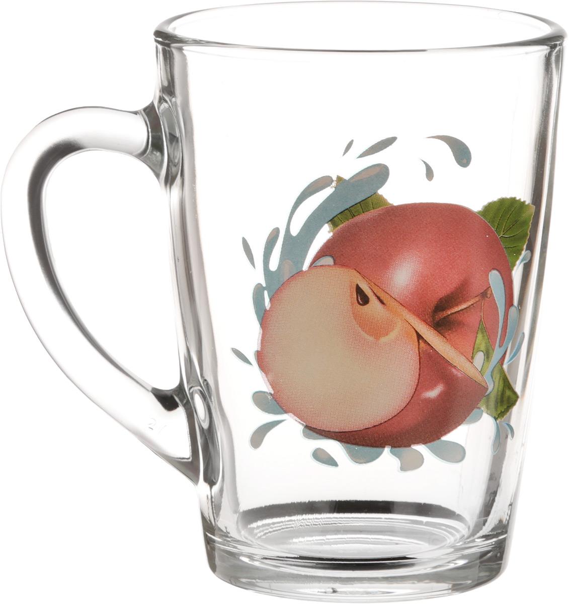 Кружка OSZ Капучино. Яблоко красное, 300 мл07C1334-YKKКружка OSZ Капучино. Яблоко красное изготовлена из стекла и декорирована принтом. Диаметр (по верхнему краю): 7,5 см. Высота: 11 см.
