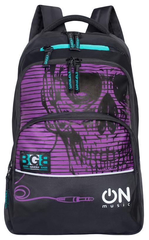 Рюкзак городской мужской Grizzly, цвет: фиолетовый. RU-715-2/4RU-715-2/4Рюкзак молодежный с двумя отделениями, передними, боковыми, внутренним и карманом-пеналом, укрепленными лямками и спиной, ручкой для переноски и ручкой-вешалкой.