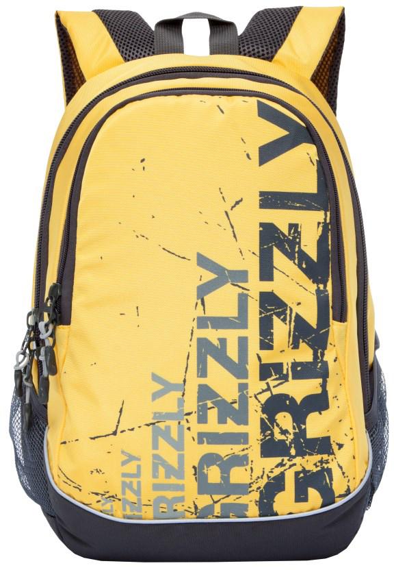 Рюкзак городской мужской Grizzly, цвет: желтый. RU-721-1/4RU-721-1/4Рюкзак молодежный, два отделения, боковые карманы из сетки, внутренний карман-пенал для карандашей, внутренний подвесной карман на молнии, анатомическая спинка, дополнительная ручка-петля, укрепленные лямки