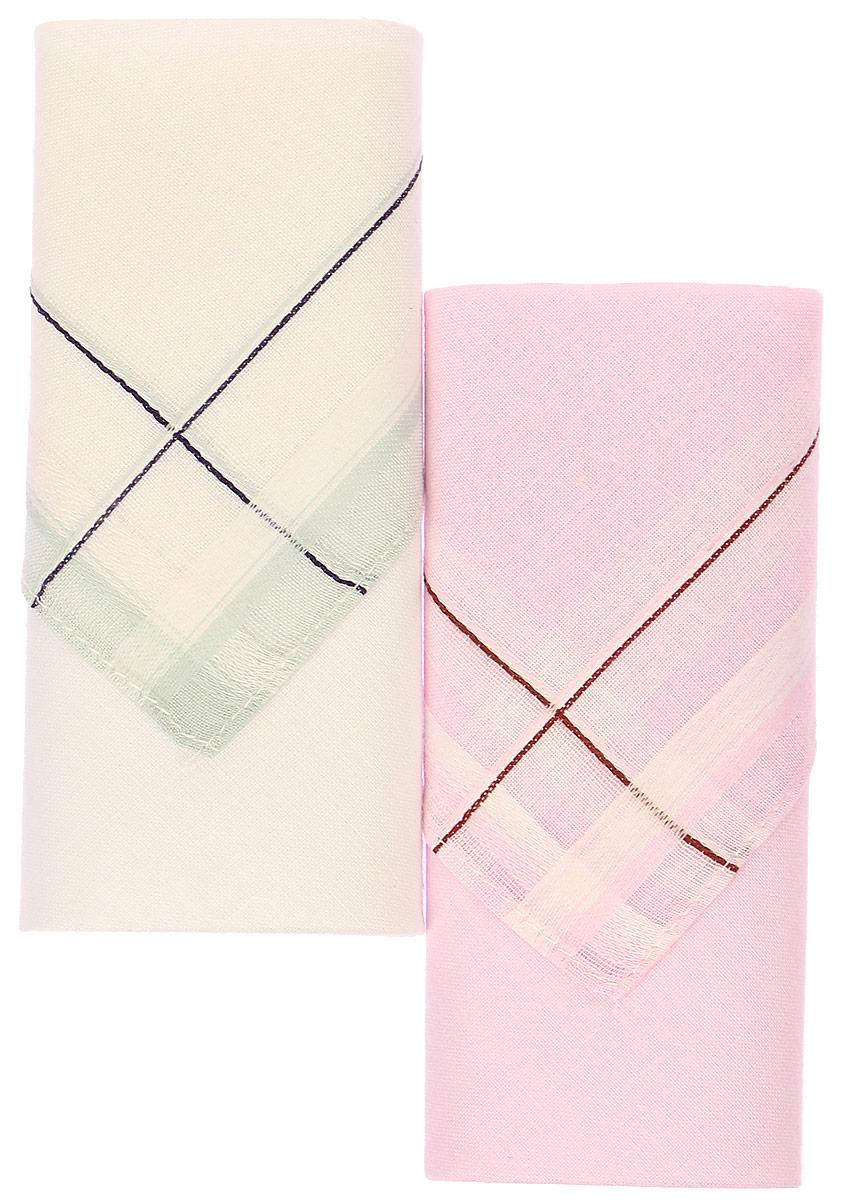 Платок носовой женский Zlata Korunka, цвет: белый, розовый, 2 шт. 71225-5. Размер 34 см х 34 см71225-5_белый,розовыйНебольшой женский носовой платок Zlata Korunka изготовлен из высококачественного натурального хлопка, благодаря чему приятен в использовании, хорошо стирается, не садится и отлично впитывает влагу. Практичный и изящный носовой платок будет незаменим в повседневной жизни любого современного человека. Такой платок послужит стильным аксессуаром и подчеркнет ваше превосходное чувство вкуса. В комплекте 2 платка.