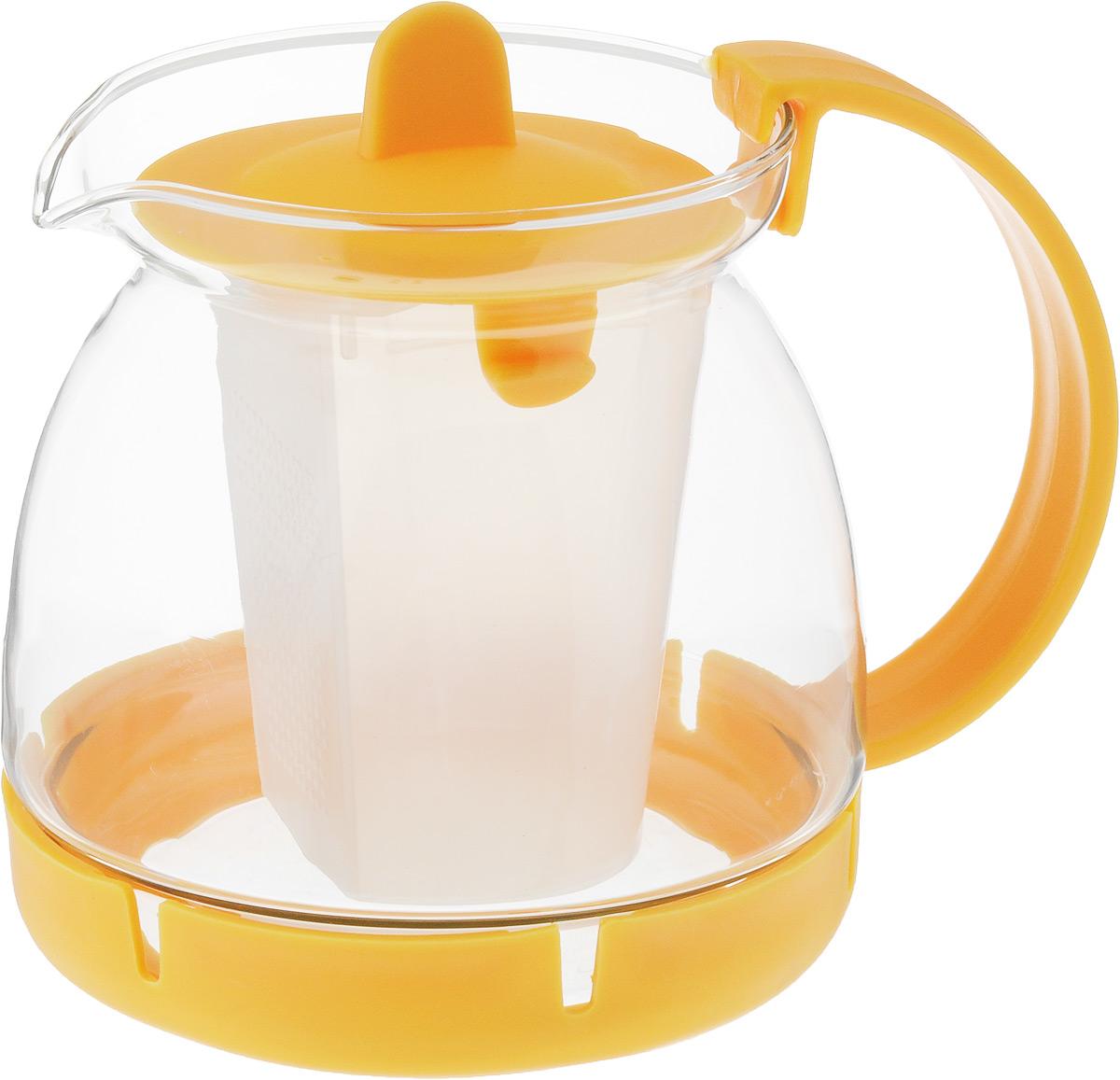Чайник заварочный Mayer & Boch, с фильтром, 800 мл26175-2Чайник заварочный Mayer & Boch изготовлен из термостойкого боросиликатного стекла, фильтр выполнены из полипропилена. Изделия из стекла не впитывают запахи, благодаря чему вы всегда получите натуральный, насыщенный вкус и аромат напитков. Заварочный чайник из стекла удобно использовать для повседневного заваривания чая практически любого сорта. Но цветочные, фруктовые, красные и желтые сорта чая лучше других раскрывают свой вкус и аромат при заваривании именно в стеклянных чайниках, а также сохраняют все полезные ферменты и витамины, содержащиеся в чайных листах. Фильтр гарантирует прозрачность и чистоту напитка от чайных листьев, при этом сохранив букет и насыщенность чая. Прозрачные стенки чайника дают возможность насладиться насыщенным цветом заваренного чая. Изящный заварочный чайник Mayer & Boch будет прекрасно смотреться в любом интерьере. Подходит для мытья в посудомоечной машине. Объем: 800 мл.