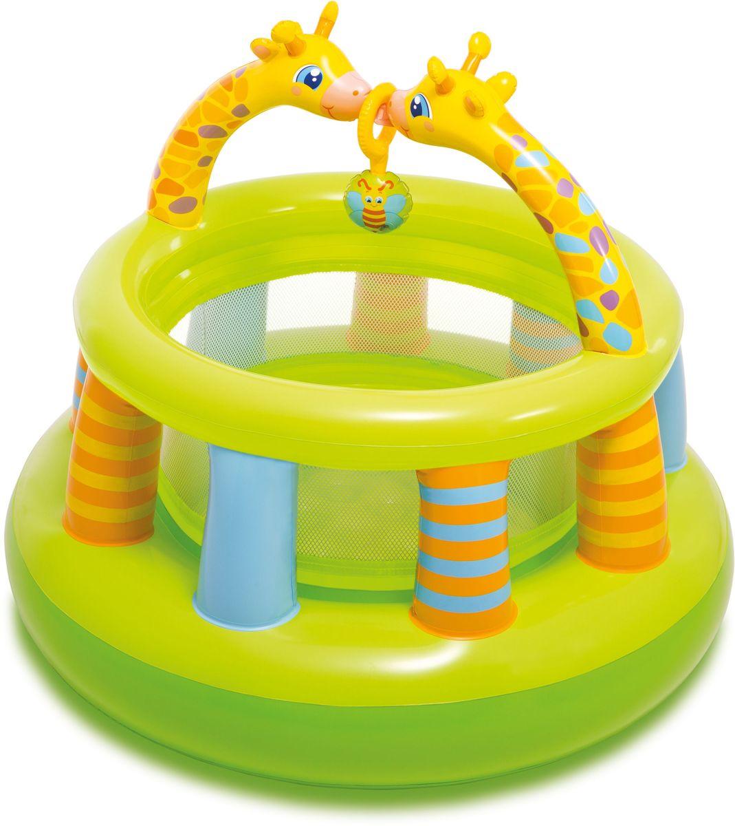 Intex Надувной игровой центр Манеж с погремушкой 130 х 104 смс48474Центр детский Intex манеж с погремушкой 130х104 см от 0-3 лет