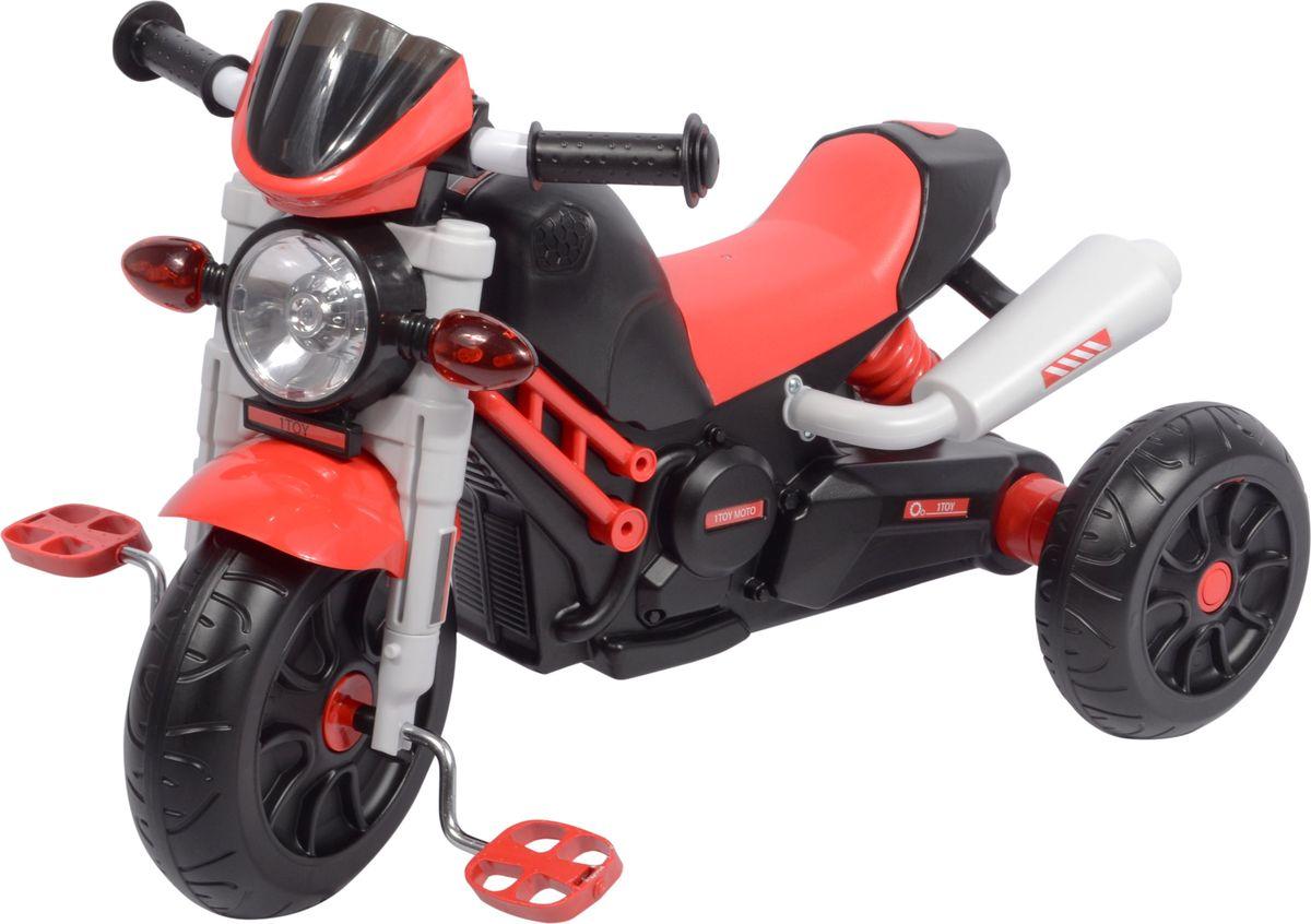 1toy Велосипед трехколесный цвет красный Т59702Т59702Диаметр переднего/заднего колеса: 10/8 Максимальная нагрузка: 30 кг Для детей от 3 лет Колеса: пластмасса Музыкальный чип Со светом