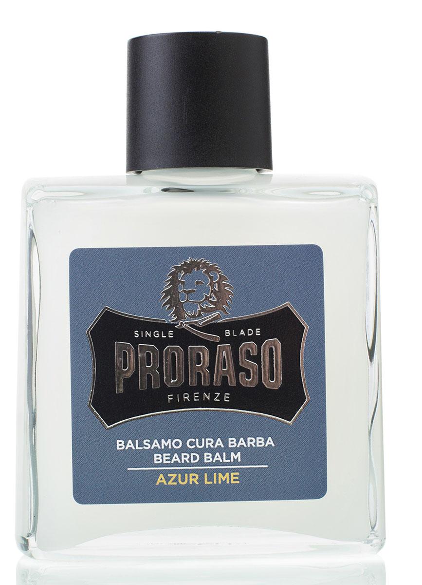 Proraso Бальзам для бороды Azur Lime 100 мл400731Бальзам для бороды создан для первых двух недель роста усов и бороды. Он помогает бороться с зудом, вызываемым ростом волос, смягчает бороду, а также питает и освежает кожу, благодаря смягчающим свойствам мяты