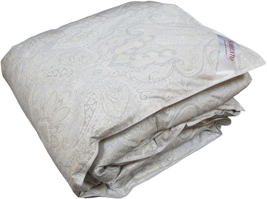 Одеяло Браво Standart Премиум Лидер, теплое, наполнитель: пух, цвет: светло-бежевый, 172 х 205 см26909
