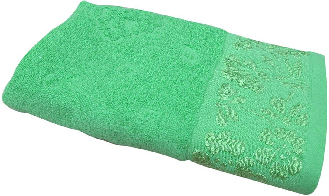 Полотенце махровое НВ Ромашка, цвет: зеленый, 70 х 130 см. м0177_0340705