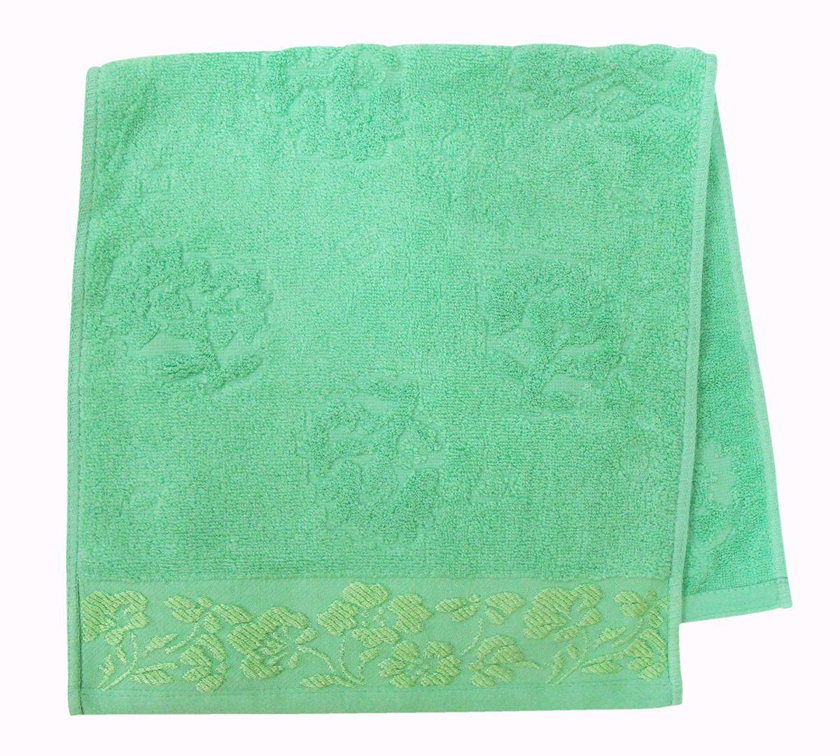 Полотенце махровое НВ Ромашка, цвет: зеленый, 33 х 70 см. м0177_0340709
