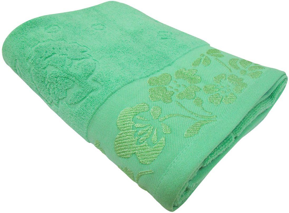 Полотенце махровое НВ Ромашка, цвет: зеленый, 50 х 90 см. м0177_0340713