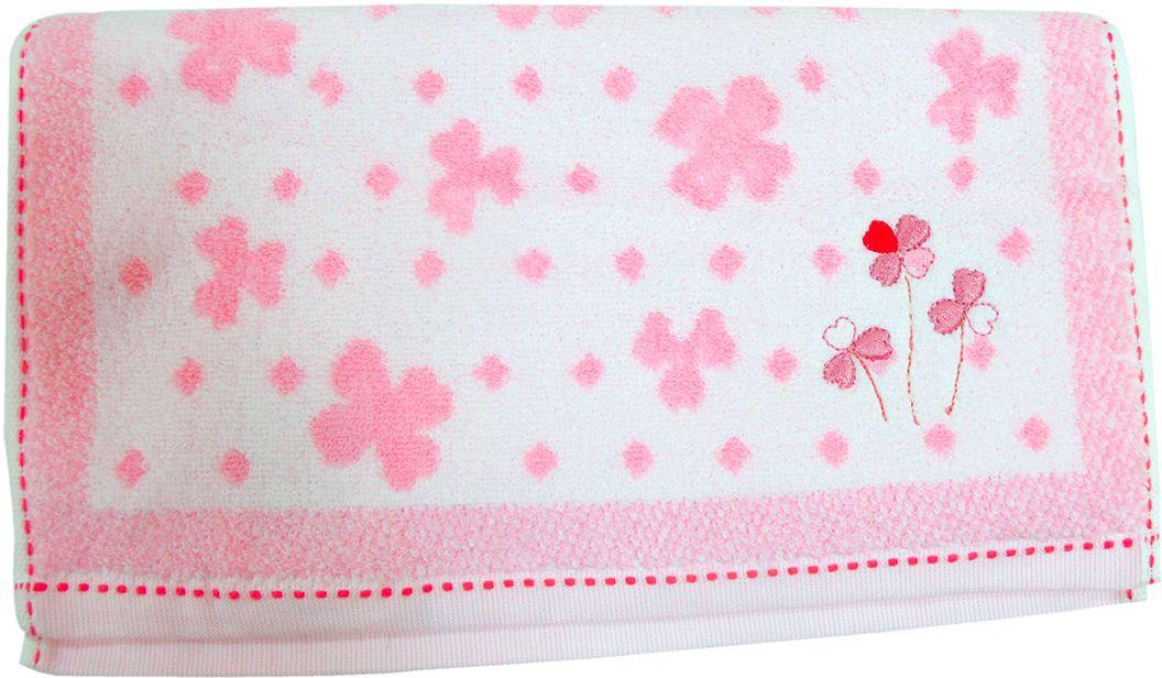 Полотенце махровое НВ Клевер, цвет: розовый, 33 х 70 см. м0240_243250