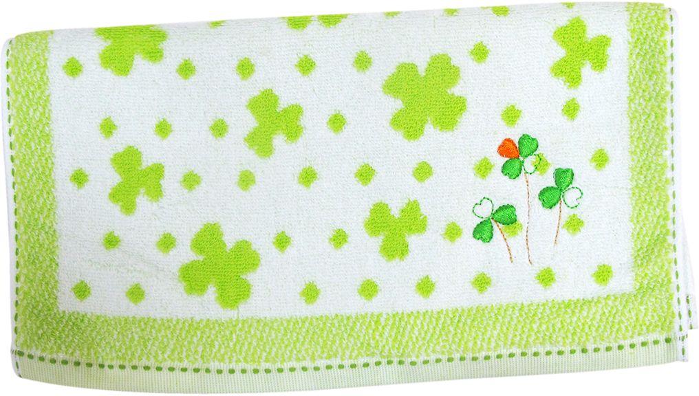 Полотенце махровое НВ Клевер, цвет: зеленый, 33 х 70 см. м0240_343251