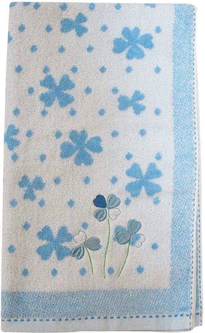 Полотенце махровое НВ Клевер, цвет: синий, 50 х 90 см. м0240_143253