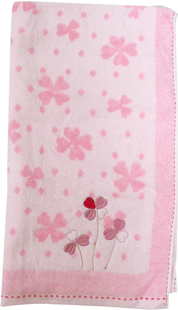 Полотенце махровое НВ Клевер, цвет: розовый, 50 х 90 см. м0240_243254