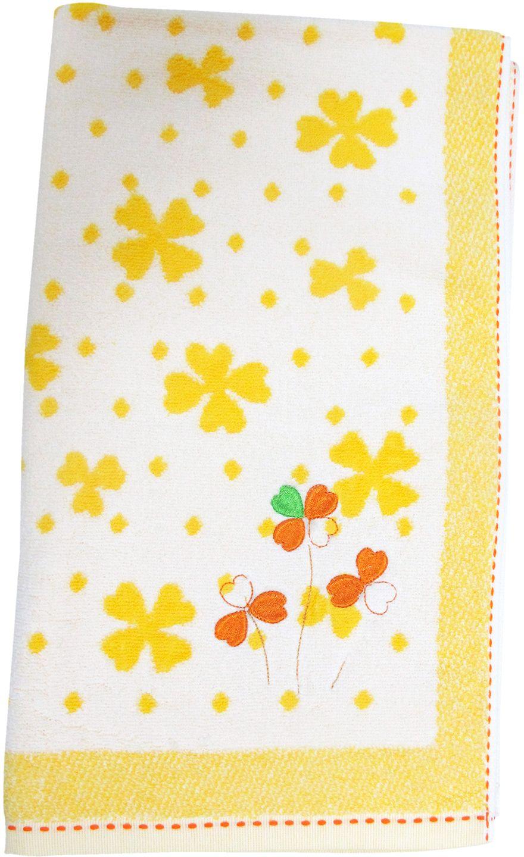 Полотенце махровое НВ Клевер, цвет: желтый, 50 х 90 см. м0240_643256