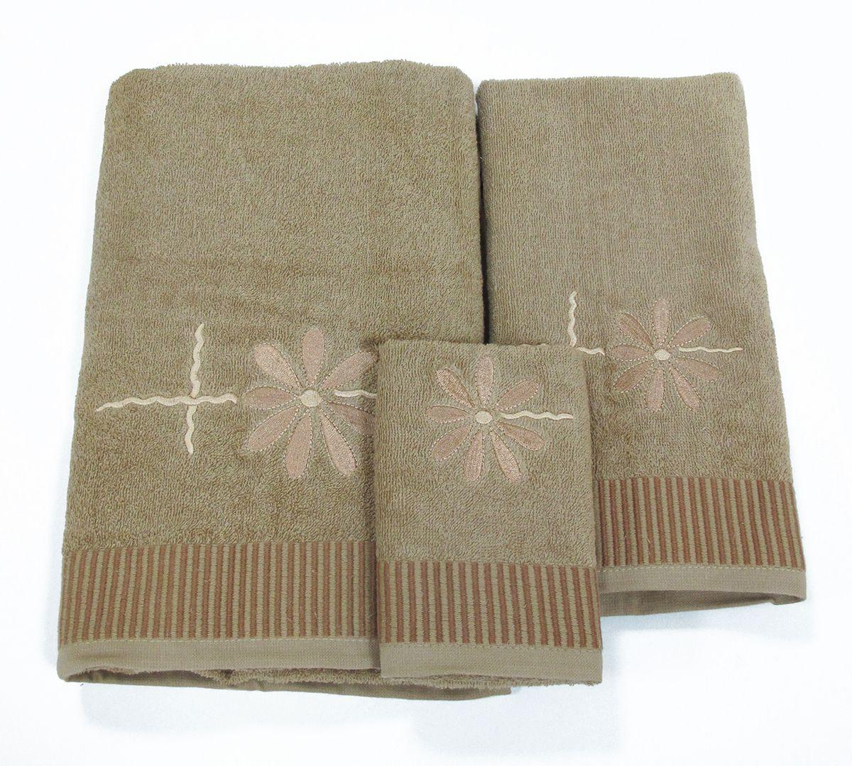 Набор махровых полотенец НВ Осеннее настроение, 30 х 50 см, 50 х 90 см, 70 х 140, 3 шт. м0265_0544760