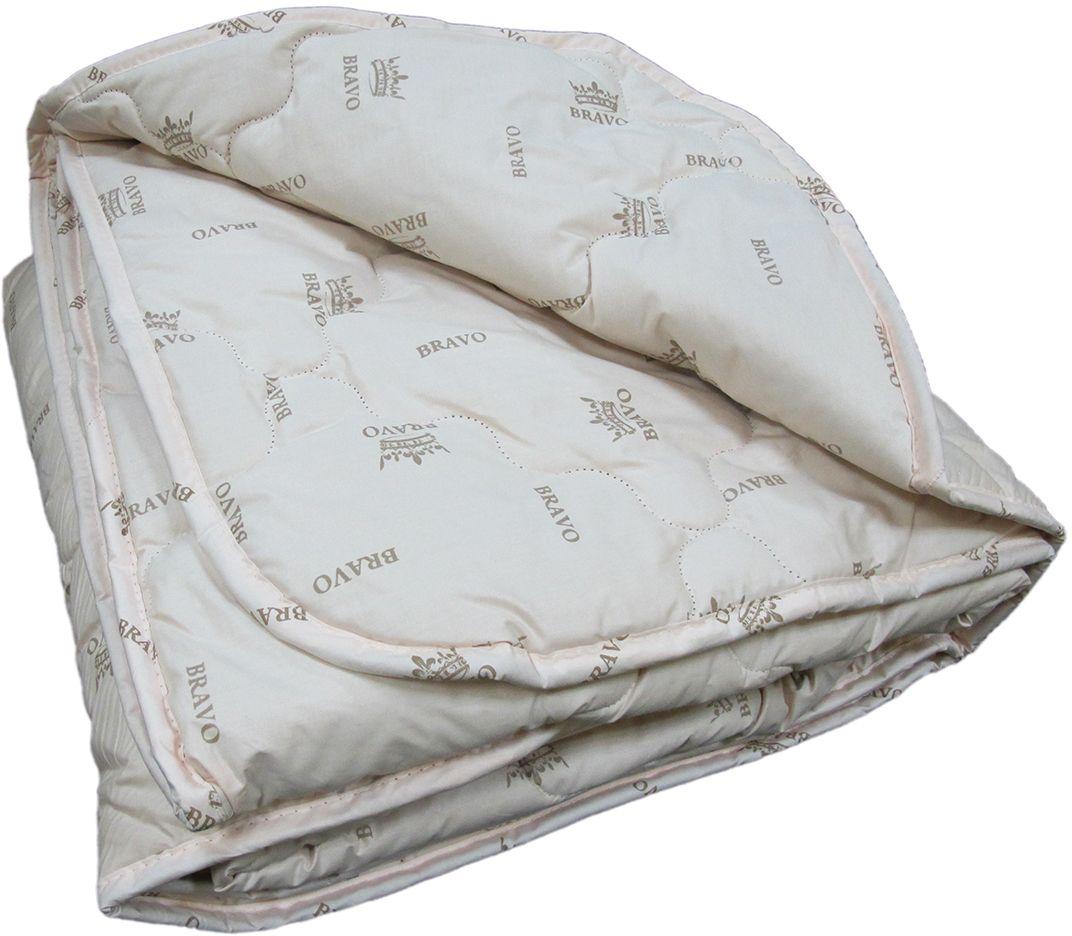 Одеяло Браво Верблюжий пух, теплое, цвет: светло-бежевый, 140 х 205 см55237