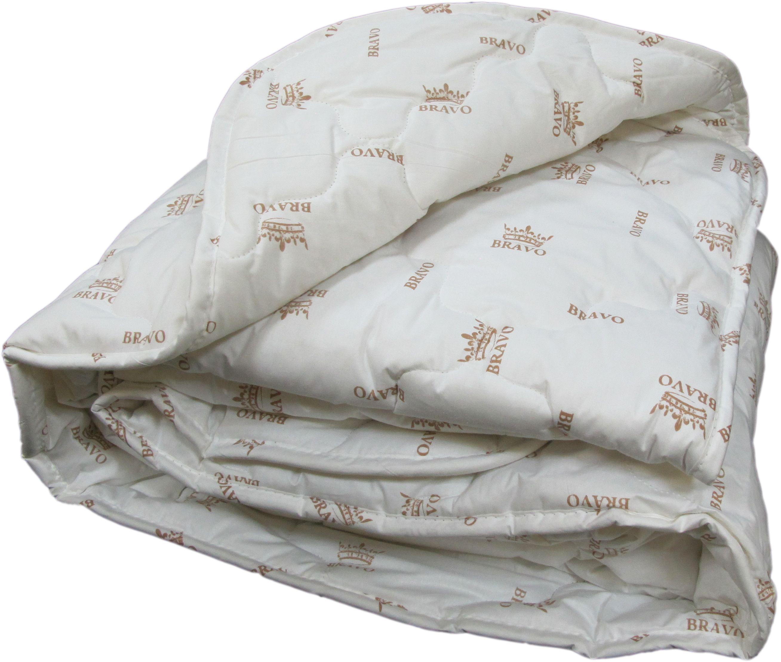 Одеяло Браво Козий пух, теплое, цвет: светло-бежевый, 140 х 205 см55243