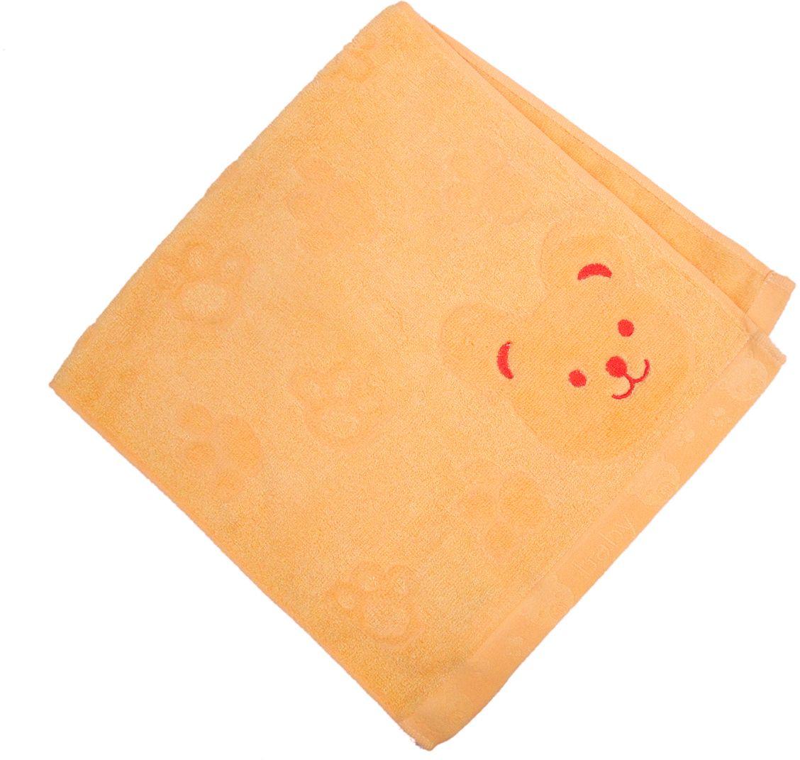 Полотенце махровое НВ Счастливый медведь, цвет: желтый, 33 х 70 см. м0392_0655310