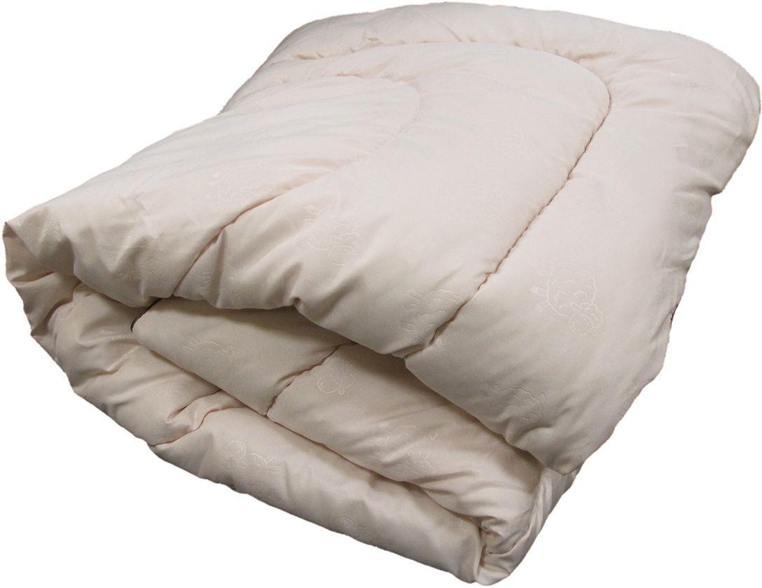 Одеяло ЭкоСтиль Wool, всесезонное, цвет: светло-бежевый, 172 х 205 см68949