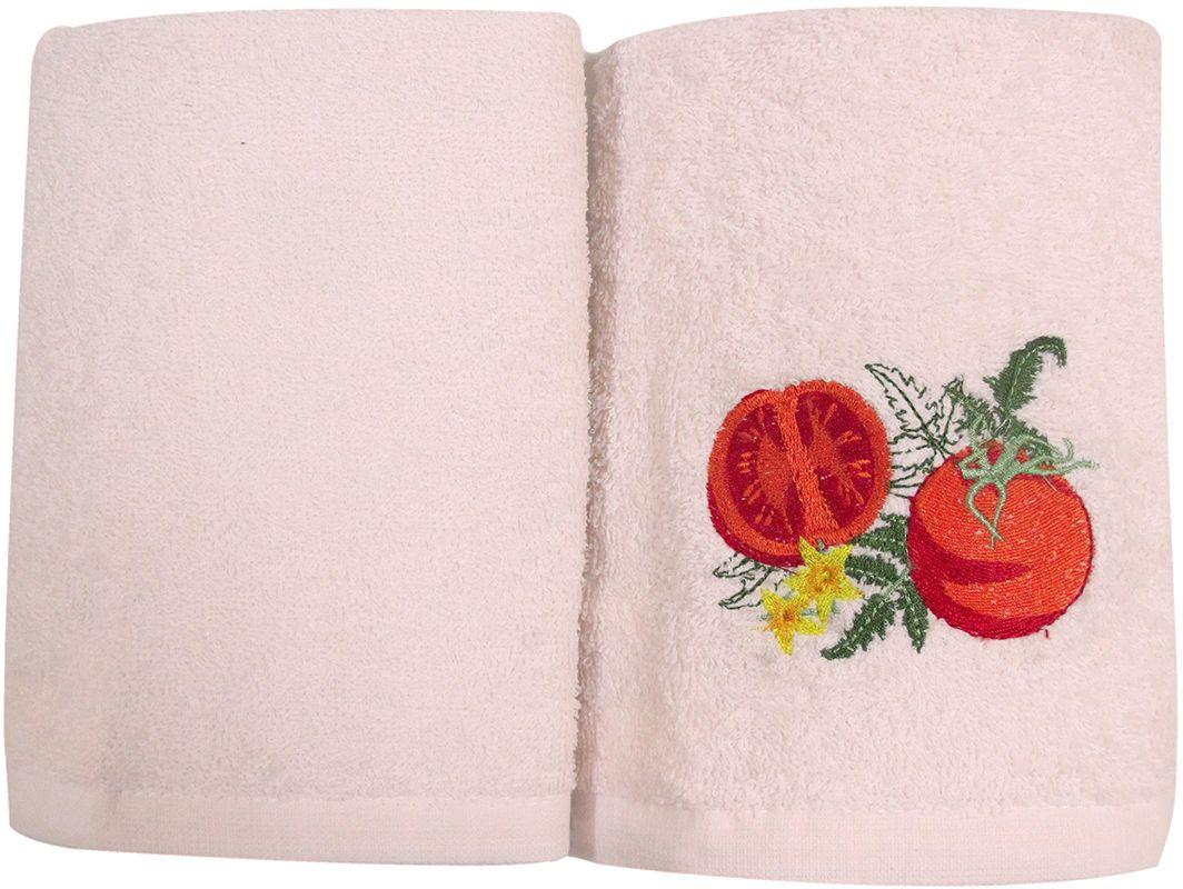 Набор махровых полотенец НВ Фрукты/овощи, цвет: розовый, 30 х 50 см, 2 шт. м0571_0273025