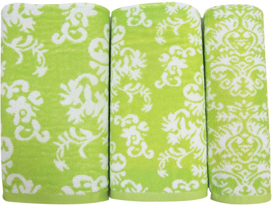 Набор махровых полотенец НВ Элиза, цвет: зеленый, 30 х 50 см, 50 х 90 см, 70 х 140, 3 шт. м0600_0374725