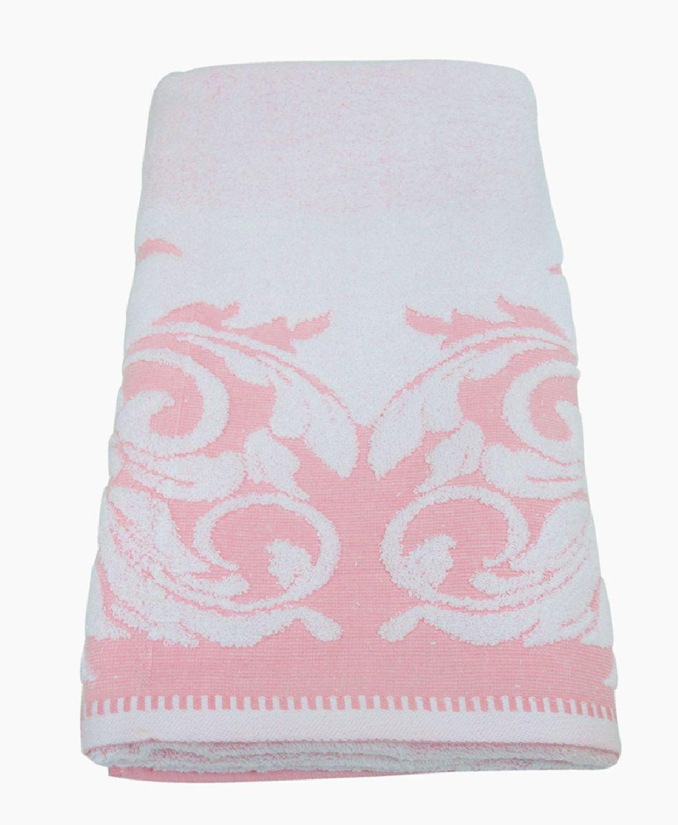 Полотенце махровое НВ Венеция, цвет: розовый, 70 х 130 см. м0508_0278232